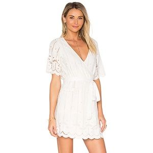 Tularosa Embroidered Eyelet Rocky Dress In Shell